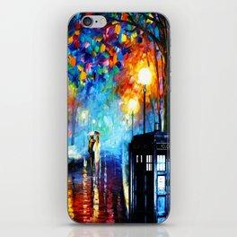 STARRY NIGHT TARDIS iPhone Skin