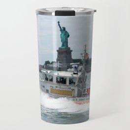 Coast Guard and Liberty Travel Mug