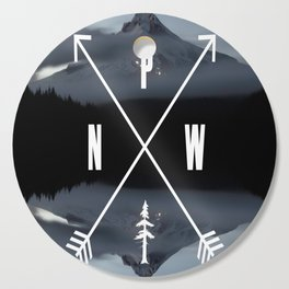 PNW Pacific Northwest Compass - Mt Hood Adventure Cutting Board