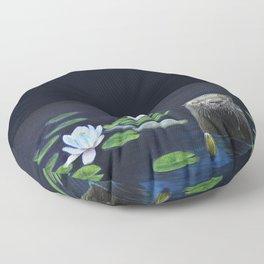 The River Otter by Teresa Thompson Floor Pillow