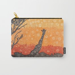 Giraffe In The Bush Carry-All Pouch