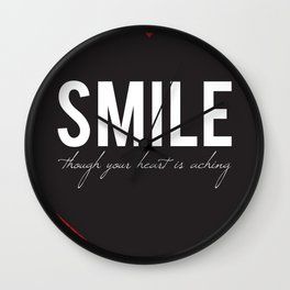 02. Smile though your heart is aching Wall Clock