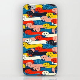 COLORED DOGS PATTERN 2 iPhone Skin