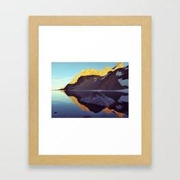 Sunset in The Tetons Framed Art Print