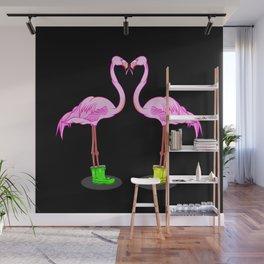 Flamingos Wall Mural