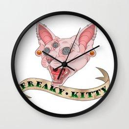 Freaky Kitty Wall Clock