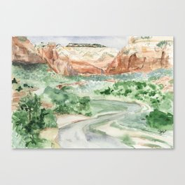 Warmth of Zion Canvas Print