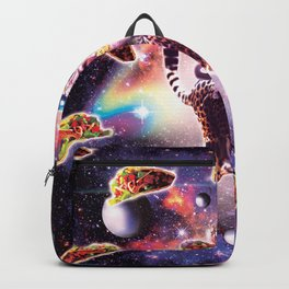 Thug Space Cat On Cheetah Unicorn With Taco Backpack