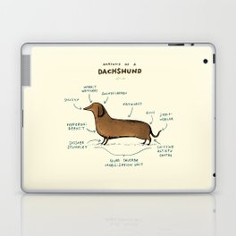 Anatomy of a Dachshund Laptop & iPad Skin