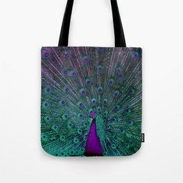 BLOOMING PEACOCK Tote Bag