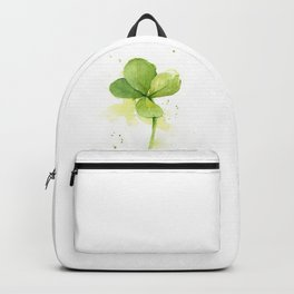 Clover Watercolor Four Leaf Clover Backpack