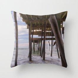 Under Frisco Pier Throw Pillow