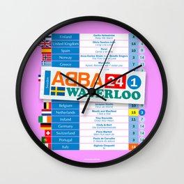 Eurovision '74 Wall Clock
