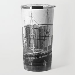 A US Frigate Ship in Baltimore, MD Travel Mug