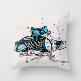 Blue Chucks Throw Pillow