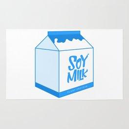 soy milk Rug