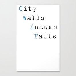 City Walls Autumn Falls Baby Onsie Canvas Print