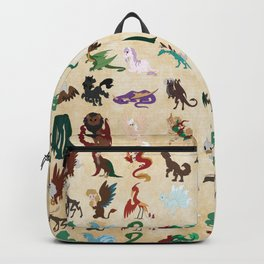 Mythical Creatures Pattern Backpack