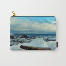 Spring Comes to the Beach in Ice that glows Blue Carry-All Pouch