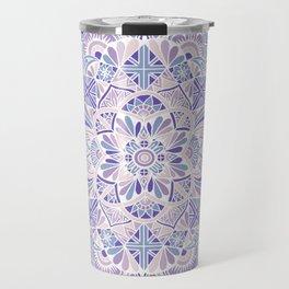 Pastel Purple Inverted Mandala Travel Mug