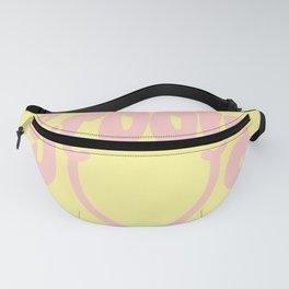 Groovy Smile // Fun Retro 70s Hippie Vibes Lemonade Yellow Grapefruit Pink Lettering Typography Art Fanny Pack