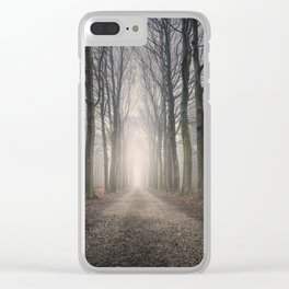 Through the Misty Wood Clear iPhone Case
