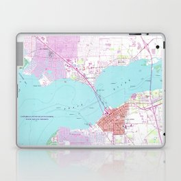 Punta Gorda & Port Charlotte Florida Map (1957) Laptop & iPad Skin