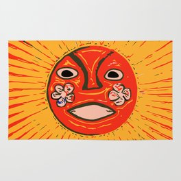 The sun Huichol art Rug