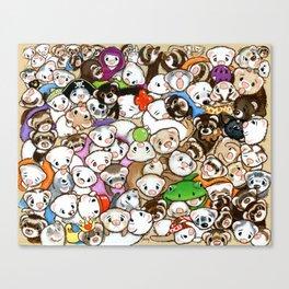 One Hundred Million Ferrets Canvas Print