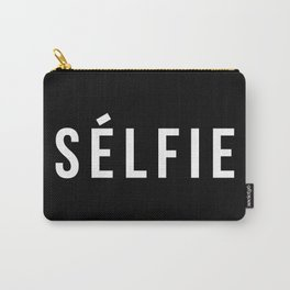 Selfie - version 2 - white Carry-All Pouch