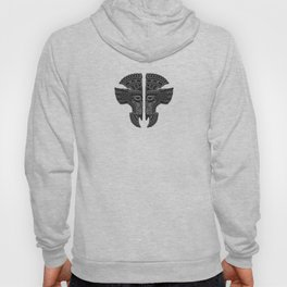 Gray and Black Aztec Twins Mask Illusion Hoody