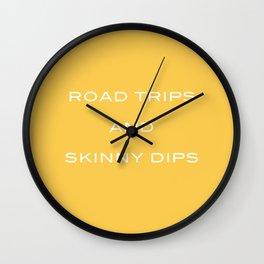 Road trips II Wall Clock