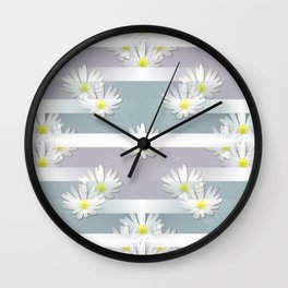 Mix of formal and modern with anemones and stripes 3 Wall Clock