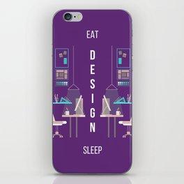 Eat Design Sleep  - Purple iPhone Skin