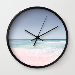Pastel ocean waves Wall Clock