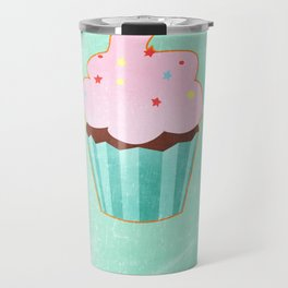 Cupcake tasty, sweet illustration Travel Mug