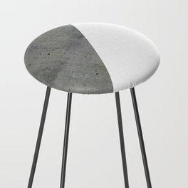 Concrete Vs White Counter Stool