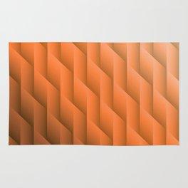 Gradient Orange Diamonds Geometric Shapes Rug