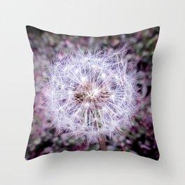 Dainty Dandelion Throw Pillow