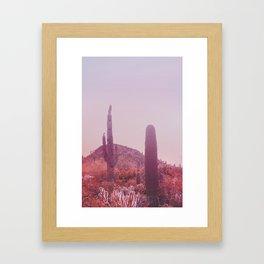 Infrared Desert Landscape Framed Art Print