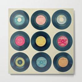 Vinyl Collection Metal Print