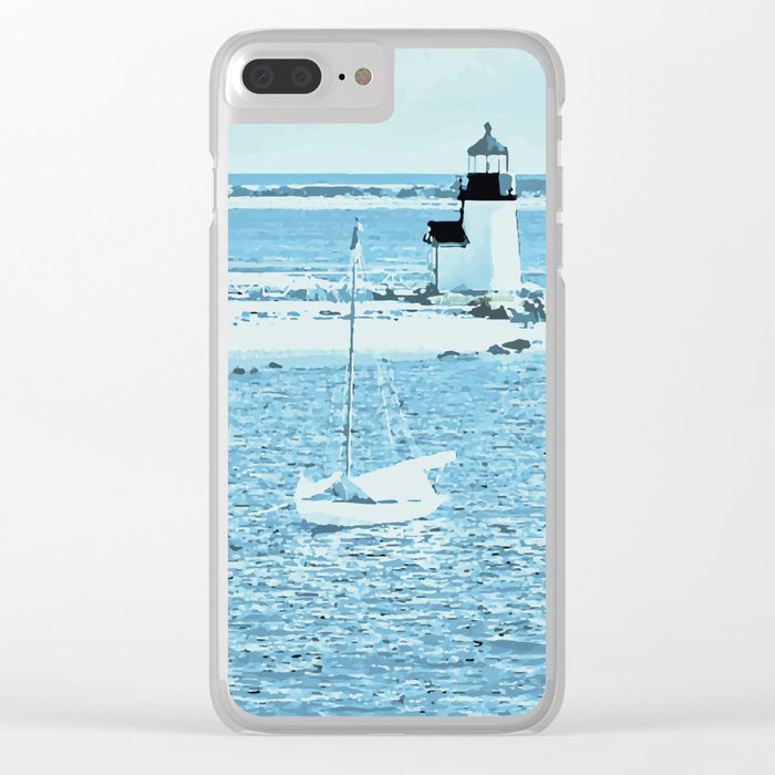 Nantucket Reverie Clear iPhone Case