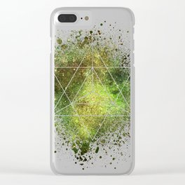 Star Tetrahedron the Merkaba Vehicle of Light Clear iPhone Case