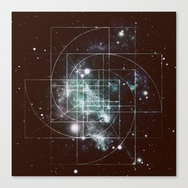 Galaxy Sacred Geometry: Golden Mean dark Canvas Print