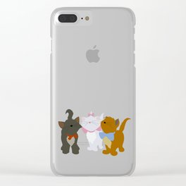 Aristocats - Red Clear iPhone Case
