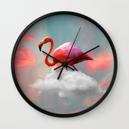 My Home up to the Clouds Wall Clock