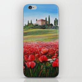 Italian Poppy Field iPhone Skin