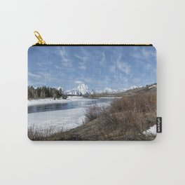 Grand Tetons from Oxbow Bend at a Distance Carry-All Pouch