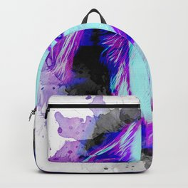Alan Watts portrait Backpack