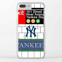 NYC Yankees Subway Clear iPhone Case